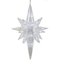 20 Inch Pure White LED Bethlehem Star - 50 LED Pure White Lights