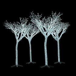 85 foot outdoor led palm tree 1900 led pure white lights - Palm Tree Christmas Decorations