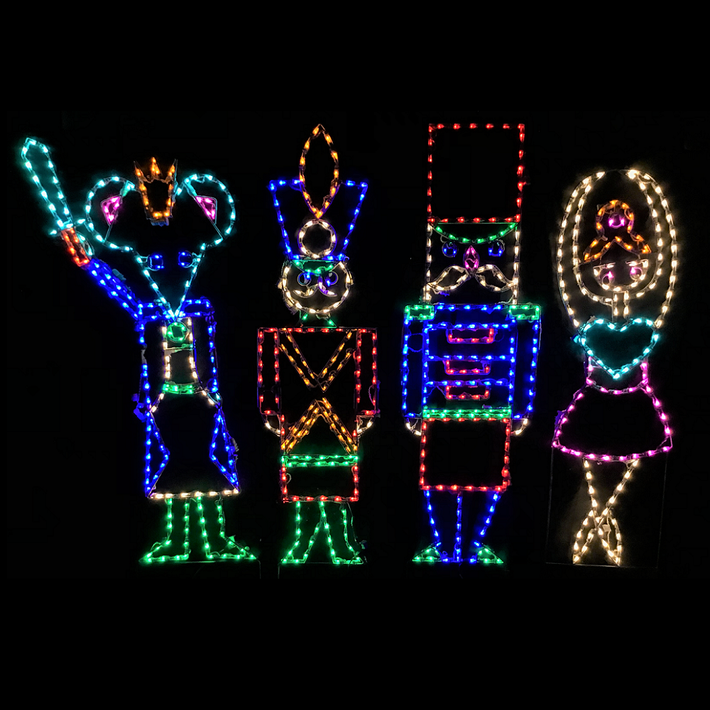 Nutcracker Suite LED Lighted Outdoor Christmas Decoration