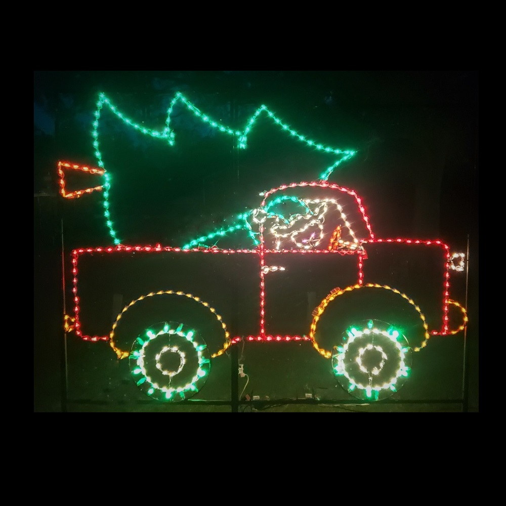 Elf Delivery Truck Animated LED Lighted Outdoor Christmas Decoration