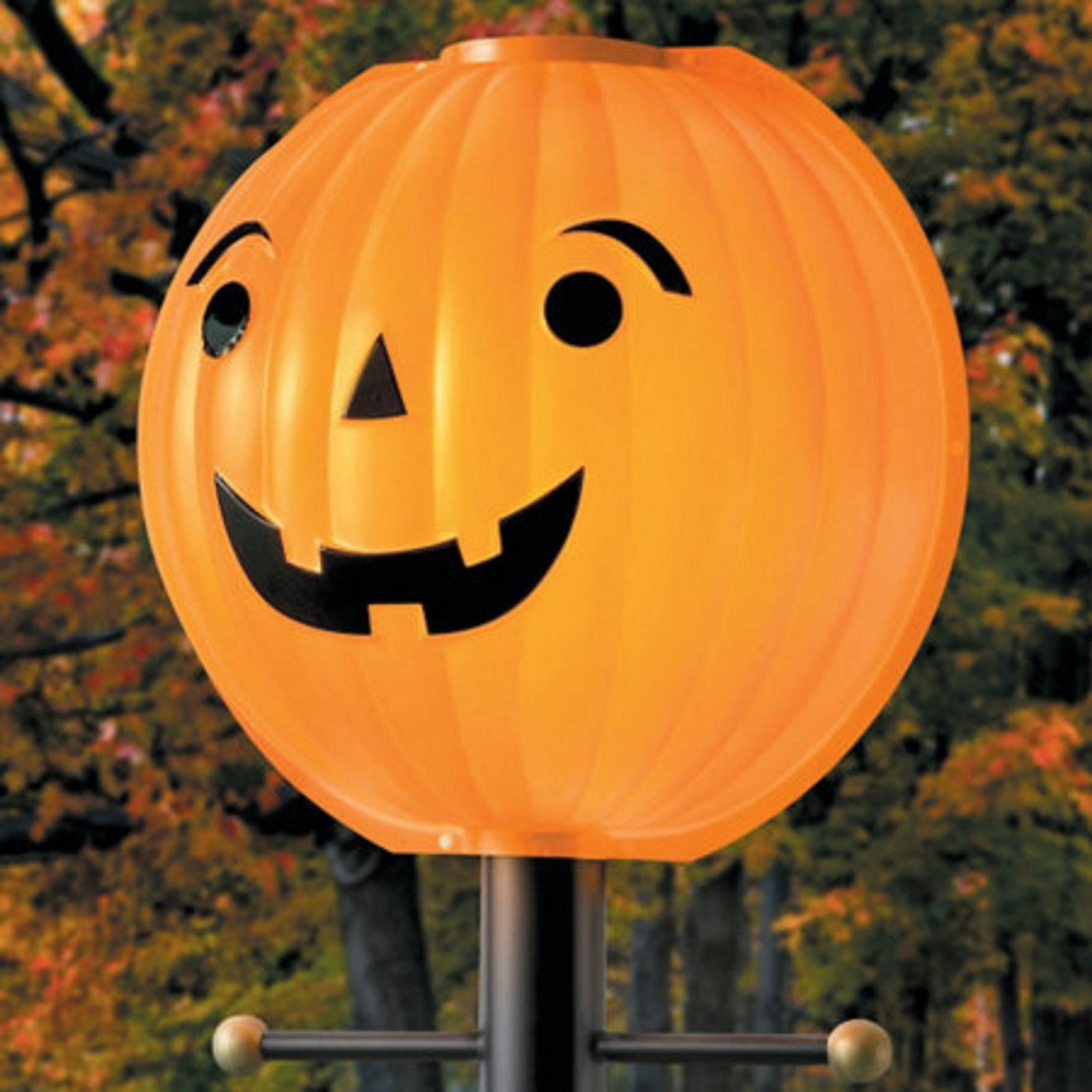 Pumpkin LampLighter Lamp Post Light Cover Outdoor Halloween Decoration