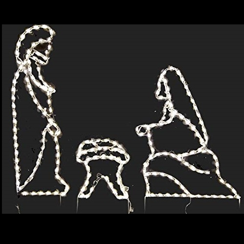 Holy Family LED Lighted Outdoor Christmas Decoration