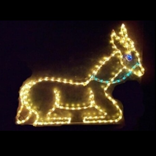 Sitting Donkey LED Lighted Outdoor Lawn Decoration