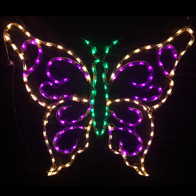Butterfly - Hanging LED Lighted Outdoor Spring Decoration