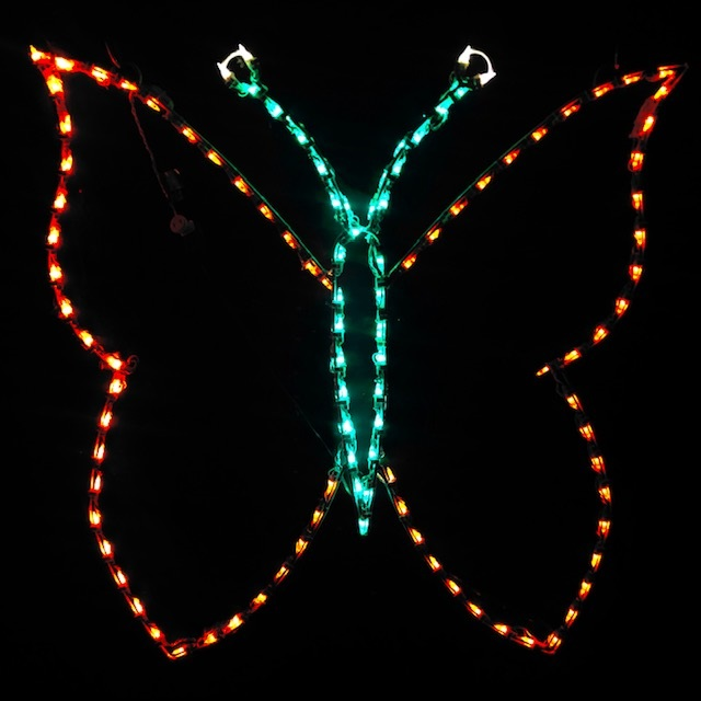 Butterfly Outline - Hanging LED Lighted Outdoor Spring Decoration