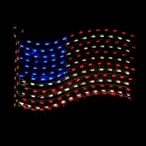 American Flag LED Lighted Patriotic Outdoor Decoration