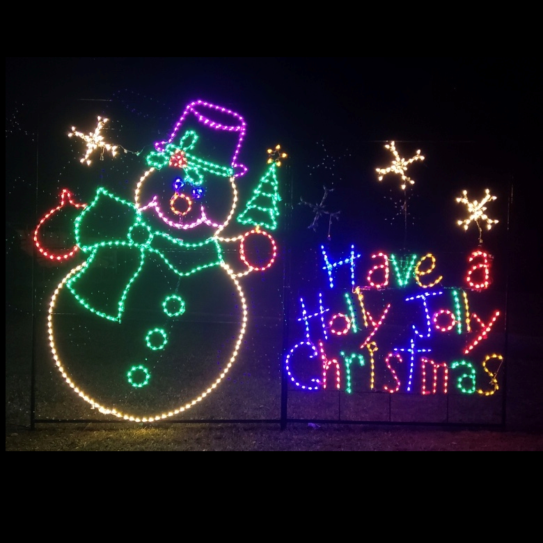 Holly Jolly Snowman with Snowflakes Animated LED Lighted Outdoor Commercial Christmas Decoration