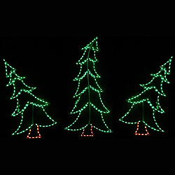 Christmas Trees Swaying LED Lighted Outdoor Christmas Decoration