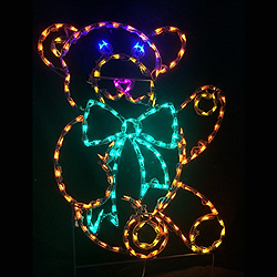Teddy Bear LED Lighted Outdoor Lawn Decoration