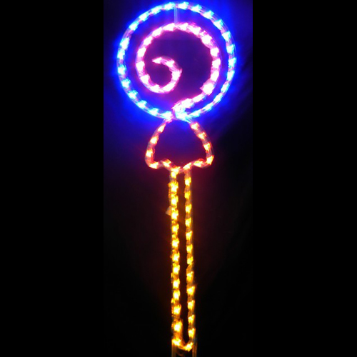 Lollipop Pick Your Color LED Lighted Outdoor Easter Decoration