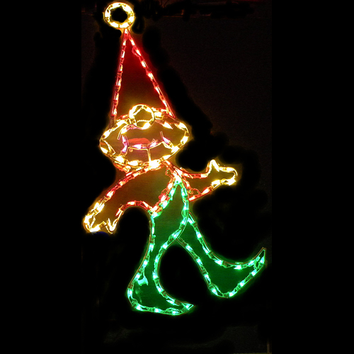 Elf LED Lighted Outdoor Christmas Decoration