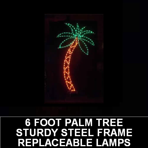 Palm Tree LED Lighted Outdoor Lawn Decoration