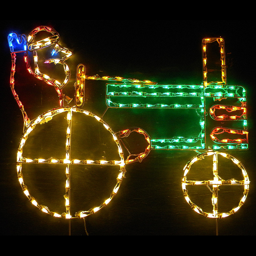 Led outdoor christmas decorations lighted santa claus for Outdoor lighted christmas ornaments