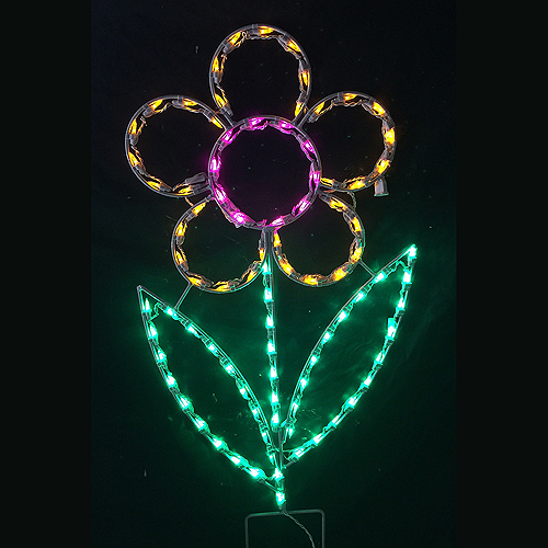 Enjoy Your Flower Bed in the Evening With Lighted Daisy Decorations