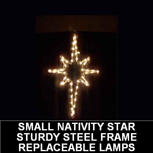 Small Hanging Nativity Star Outdoor LED Lighted Christmas Decoration