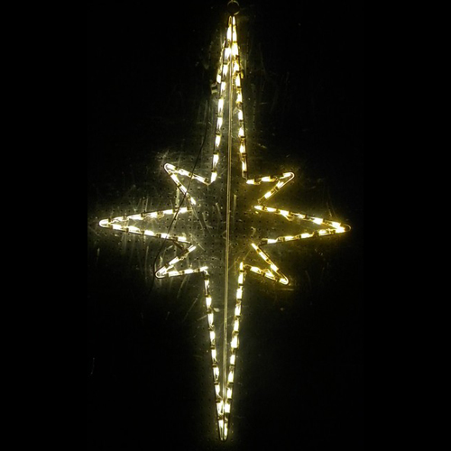 Large Hanging Nativity Star LED Lighted Outdoor Christmas Decoration