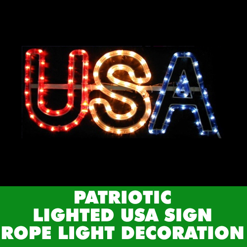 USA Rope Light Window Wall Decoration