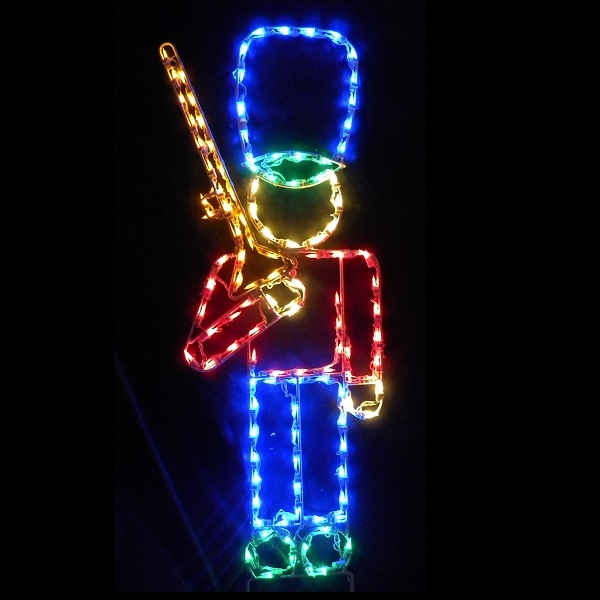 Soldier with Rifle Lighted Outdoor Christmas Decoration