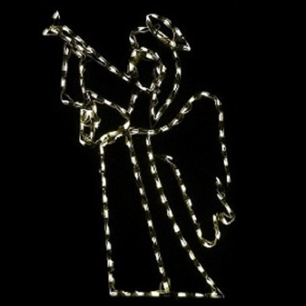 Angel with Trumpet LED Lighted Outdoor Christmas Decoration - Large