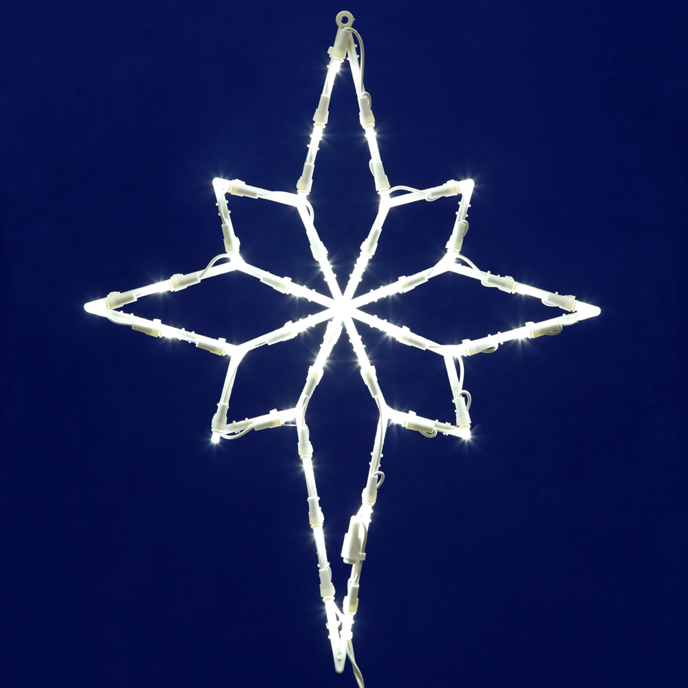 Star of Bethlehem Lighted Window Decoration - 35 LED 5MM Wide Angle Polka-Dot Lights